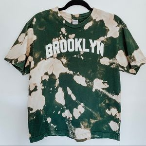 Brooklyn Bleached Tie Dye Green T-Shirt